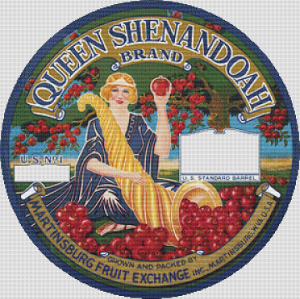 Queen Shenandoah Brand Apples Label