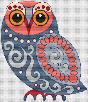 Scandinavian Folk Art Owl
