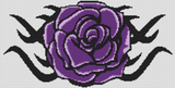 Tribal Purple Rose