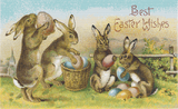 Vintage Easter Bunnies and Eggs