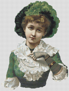 Vintage Woman In Green