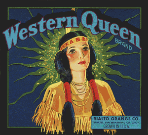 Western Queen Brand Vintage Label