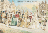 A La Ville De Saint Denis Trading Card - Pattern and Print