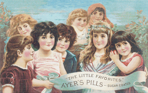 Ayer's Pills Trading Card - Pattern and Print