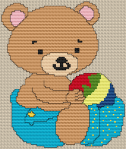 Baby Boy Bear - Pattern and Print