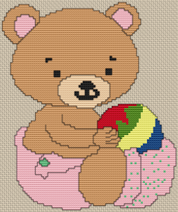 Baby Girl Bear - Pattern and Print