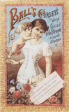 Ball's Corsets Trading Card - Pattern and Print