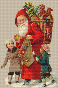 Basket Santa - Pattern and Print