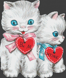 Be My Valentine Kittens - Pattern and Print
