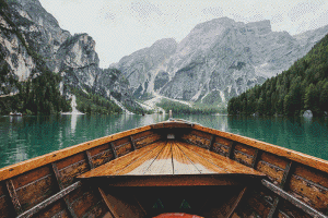 Boat on a Mountain Lake