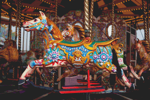 Brighton Pier Carousel - Pattern and Print