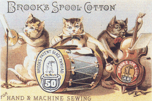 Brook's Spool Cotton Trading Card - Pattern and Print