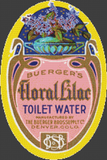 Buerger's Floral Lilac Toilet Water Label - Pattern and Print