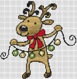 Cartoon Reindeer - Pattern and Print