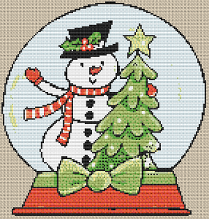 Cartoon Snow Globe - Pattern and Print