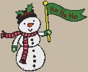 Cartoon Snowman - Pattern and Print