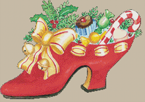 Christmas Shoe - Pattern and Print