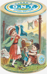Clark's Spool Cotton Trading Card - Pattern and Print