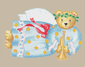 Country Bear Angel - Pattern and Print