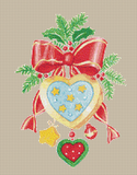 Country Heart Ornament - Pattern and Print