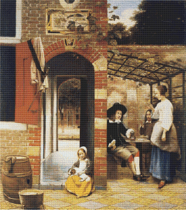 Courtyard of a House in Delft - Pattern and Print