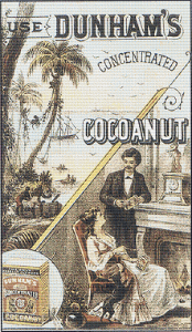 Dunham's Concentrated Cocoanut Trading Card