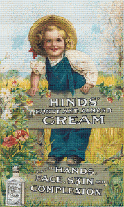 Hinds' Honey and Almond Cream Trading Card - Pattern and Print