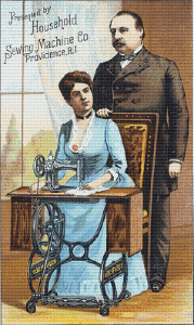 Household Sewing Machines Co. Trading Card - Pattern and Print