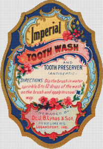 Imperial Tooth Wash Label - Pattern and Print