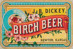 J. B. Dickey Birch Beer Label - Pattern and Print