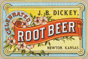 J. B. Dickey Root Beer Label - Pattern and Print
