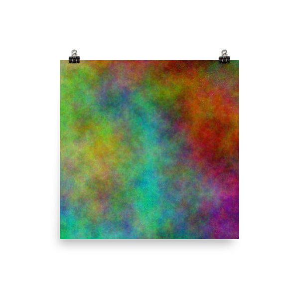 Colorful Space Photo Paper Poster - Pattern and Print