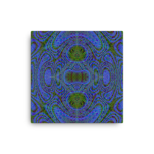Blue Alien 12 x 12 Canvas Print - Pattern and Print