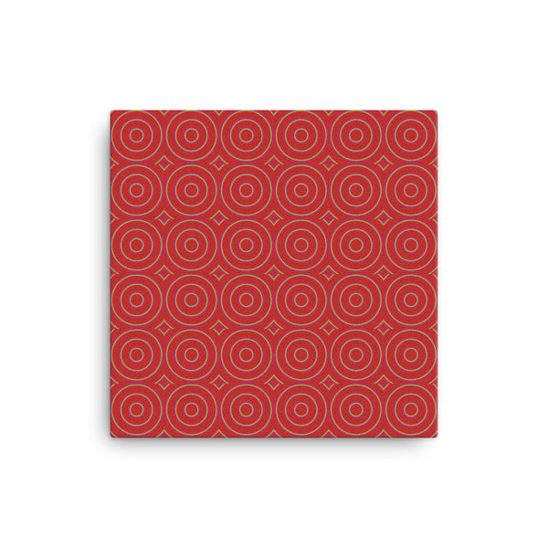 Circle Round 16 x 16 Canvas Print - Pattern and Print