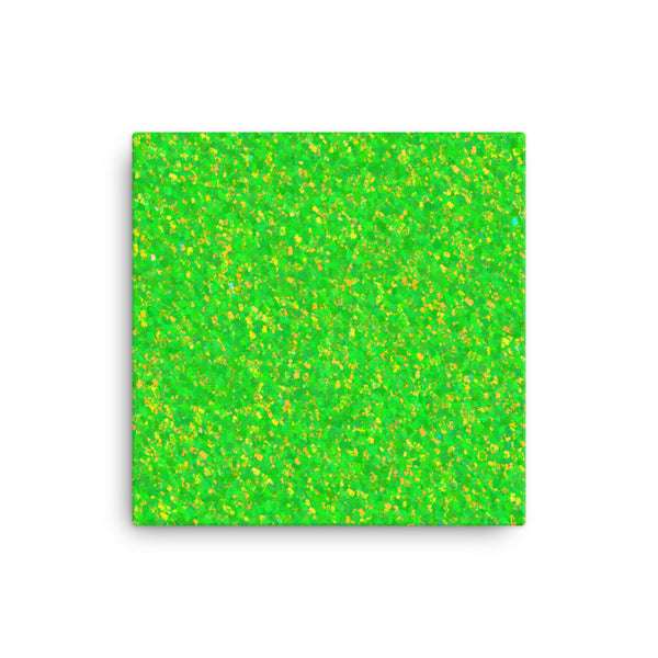 Painter - Green 12 x 12 Canvas Print - Pattern and Print