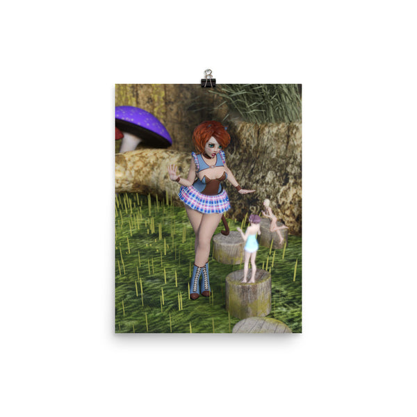 Fairy Encounter Photo Paper Poster