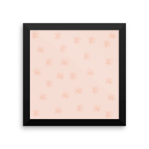 Peach Flowers Framed Photo Paper Poster