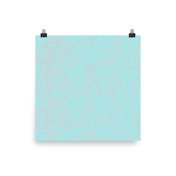 Spongy Blue Photo Paper Poster