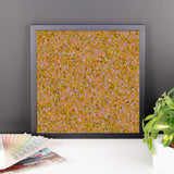 Painter - Orange Framed Photo Paper Poster - Pattern and Print