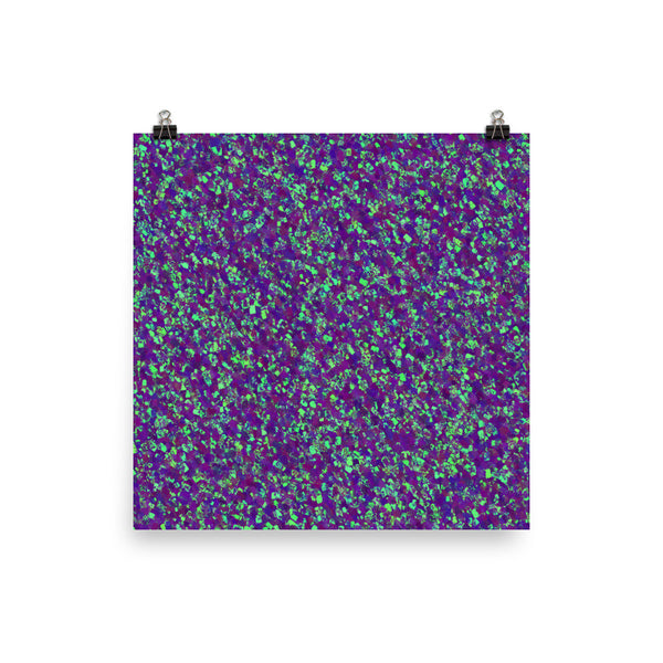 Painter - Deep Purple Matte Poster - Pattern and Print