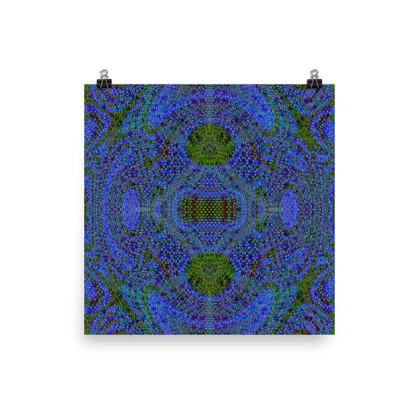 Blue Alien Matte Poster - Pattern and Print