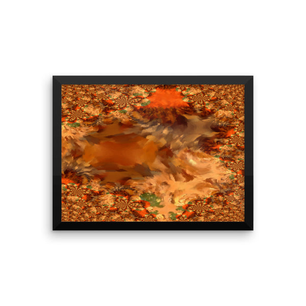 Baby Gator Framed Photo Paper Poster - Pattern and Print