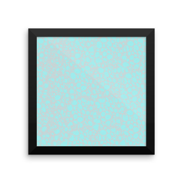 Spongy Blue Framed Photo Paper Poster