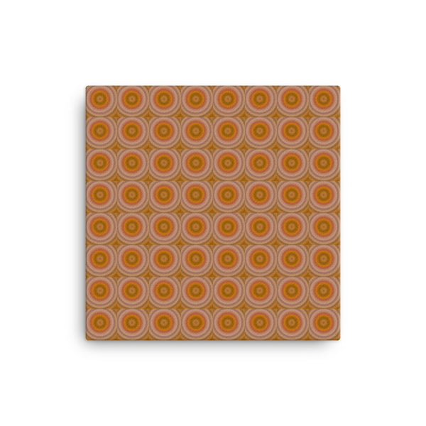 Autumn Dots 12 x 12 Canvas Print - Pattern and Print