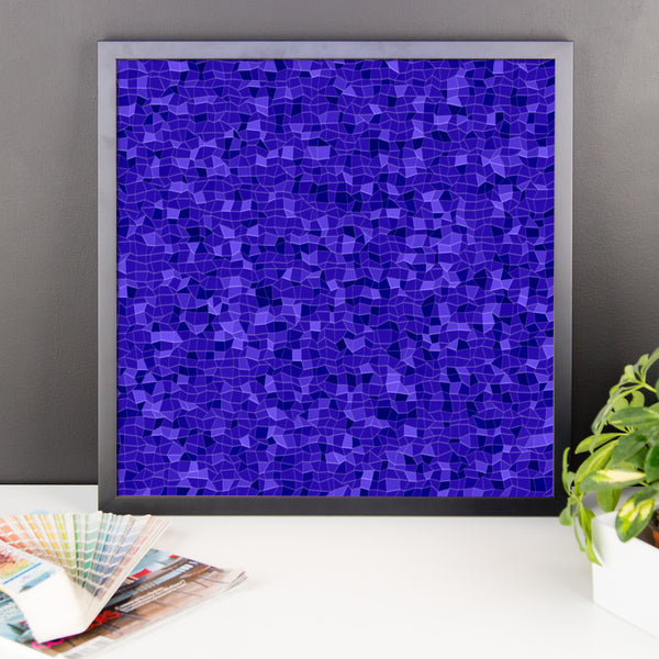 Blueberry Framed Matte Poster - Pattern and Print