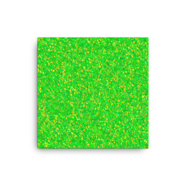 Painter - Green 16 x 16 Canvas Print - Pattern and Print