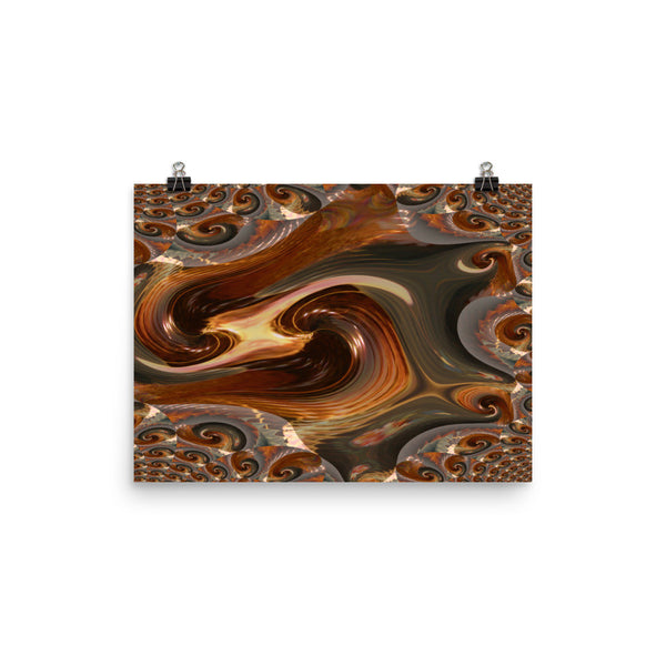 Swirly Photo Paper Poster