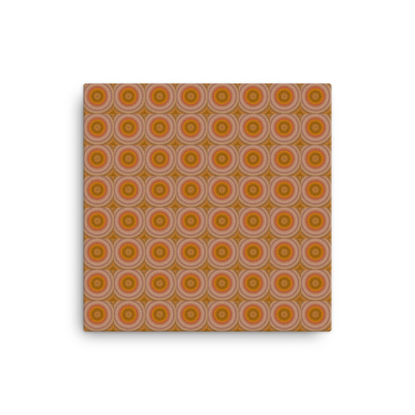 Autumn Dots 16 x 16 Canvas Print - Pattern and Print