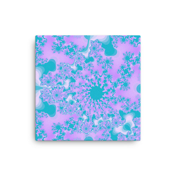 Purple Fractal 12 x 12 Canvas Print