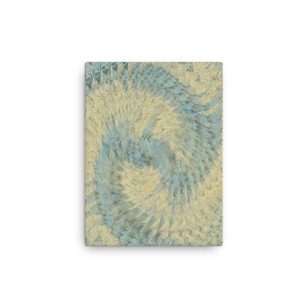 Blue Beige 12 x 16 Canvas Print - Pattern and Print